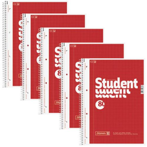10 Stück DIN A4 Blöcke Brunnen Collegeblock Kollegblock Block karriert 2 5 od