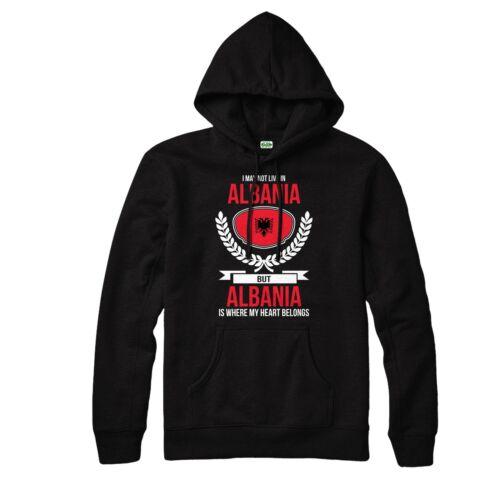 Albanie Sweat à capuche Mon cœur appartient à l/'Albanie Country Love Sweat à Capuche Top