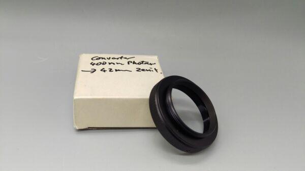 * Vintage Metal Noir Objectif Convertisseur Rring 40 Mm à Vis 42 Mm! Made In Japan!