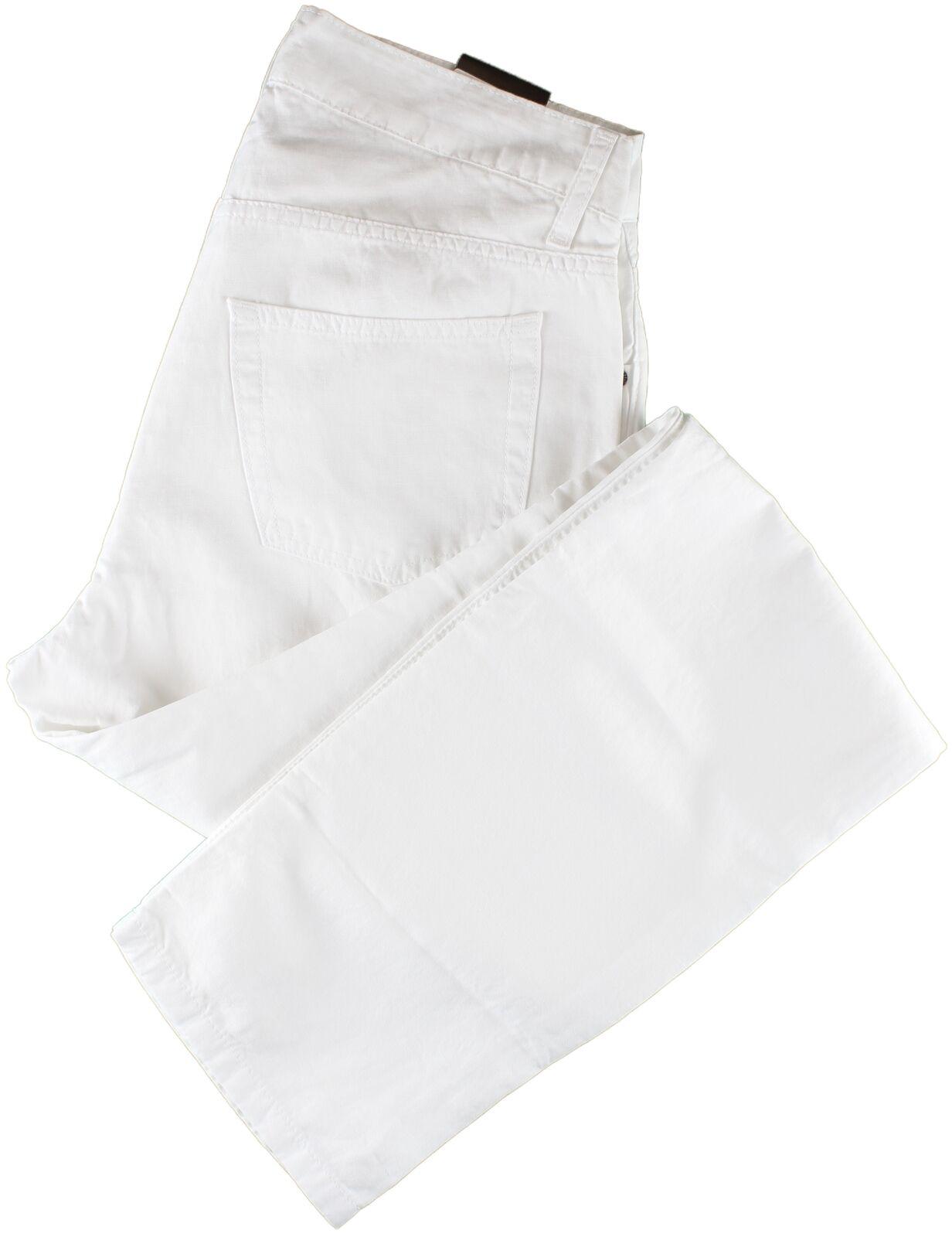 Nuevo con etiquetas Eidos  por Isaia blancoo Pantalones Informales Algodón Lino Italia 33  el mejor servicio post-venta
