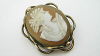 Antique Victorian Carved Cameo Brooch