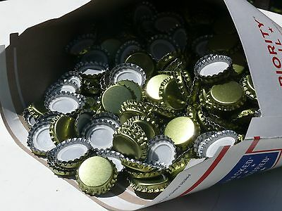 500 Lined Bottle Caps Bottling Beer Home Brew Brewing New Gold FREE SHIPPING!!!