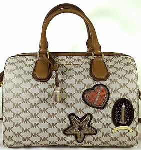 0fb51a1bc69460 Image is loading Michael-Michael-Kors-Studio-Patches-Mercer-Signature- Natural-