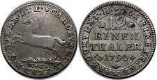 ALLEMAGNE  BRUNSWICK WOLFENBUTTEL 1/12 THALER 1790 MC KM#1000