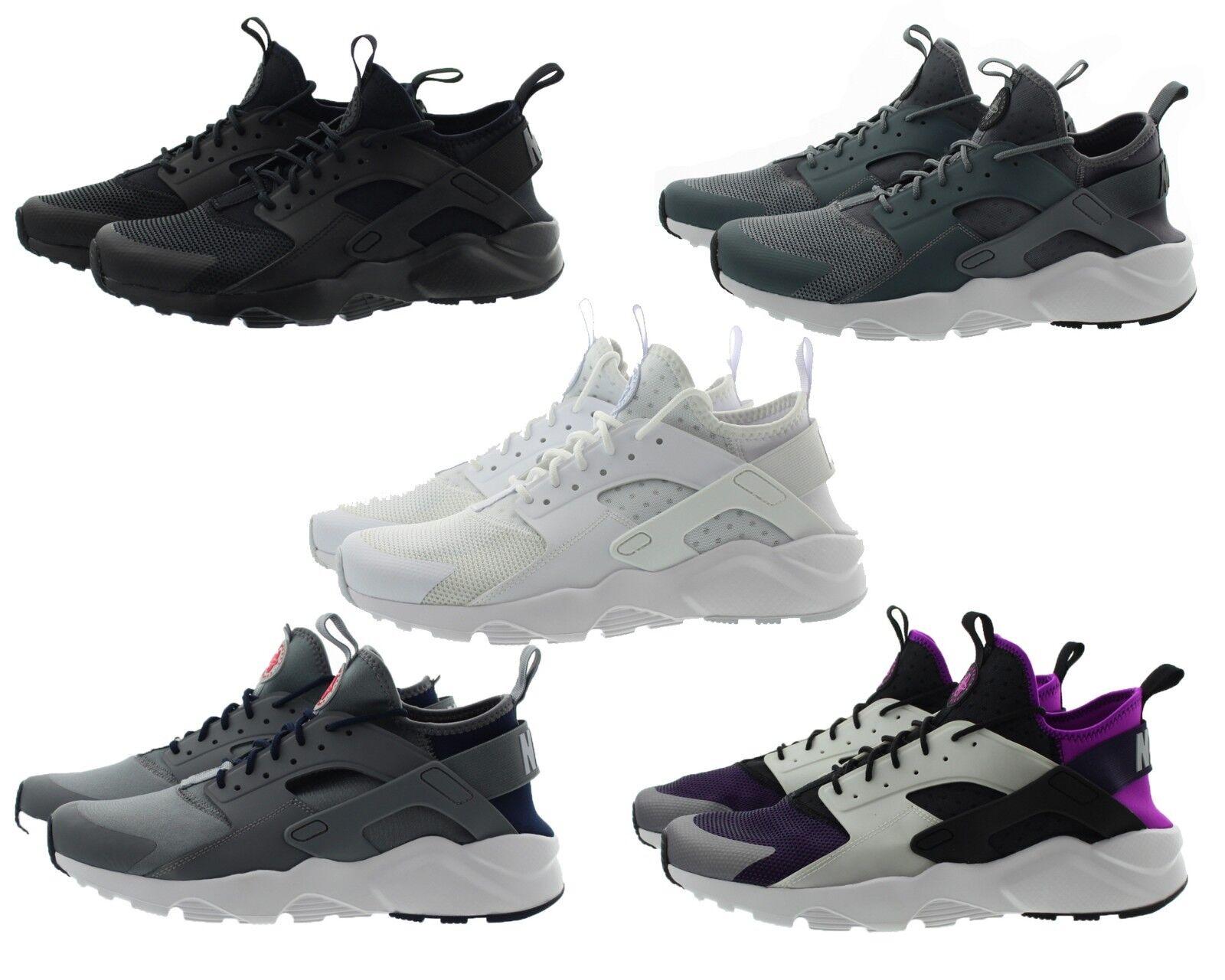 Nike Air Huarache Run Ultra Black White Running Shoes 819685 991 Wmns 819685 991