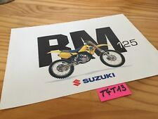 Suzuki RM125 RM 125 125RM  prospectus moto brochure publicité prospekt