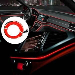 2M-Wire-Red-LED-Car-Interior-Atmosphere-Glow-String-Strip-Lights-Rope-Tube-Lamp