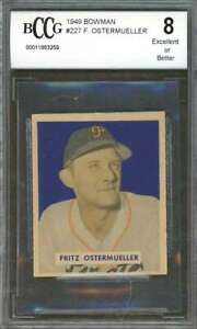 Fritz-Ostermueller-Card-1949-Bowman-227-Pirates-Ex-Or-Better-BGS-BCCG-8