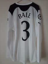 Rare Bale 3 tottenham 2010-11 ucl home football shirt investec long sleeves