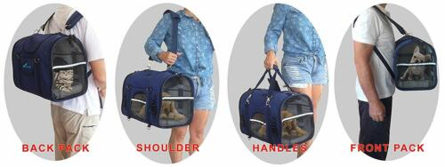 NATUVALLE 6-IN-1 STURDY PET CARRIER BACKPACK SIZE SMALL BRAND NEW