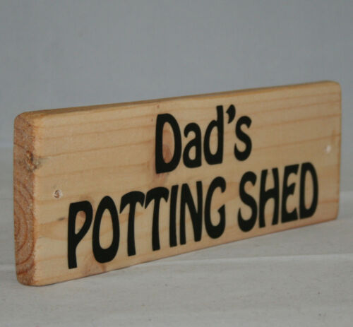 Personalised Name Potting Shed Garden Outdoor Sign Plaque Allotment Greenhouse