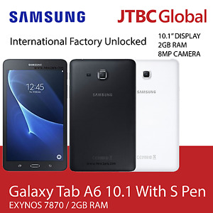 New 10.1 Inch Samsung Galaxy Tab A6 With S Pen SM-P585Y 16GB Factory Unlocked