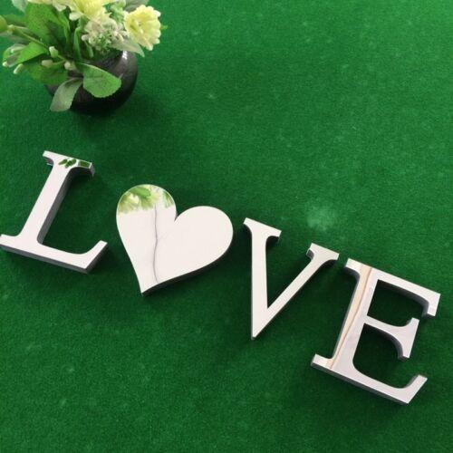 Delicate 4 Letters Love Furniture Mirror Wall Sticker Decor Art Home Decor Gift