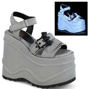 Demonia WAVE-13 Gray Women's Sandals