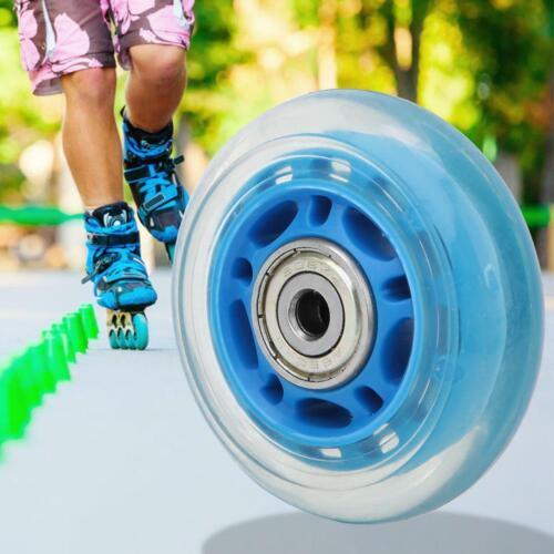 62mm Dia 608ZZ Bearing Inline Scooter Skating Skate Wheel PU Blue