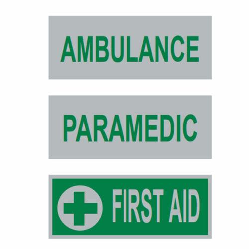 Reflective Badge Front Hi Vis Heat Applied Ambulance Paramedic First Aid
