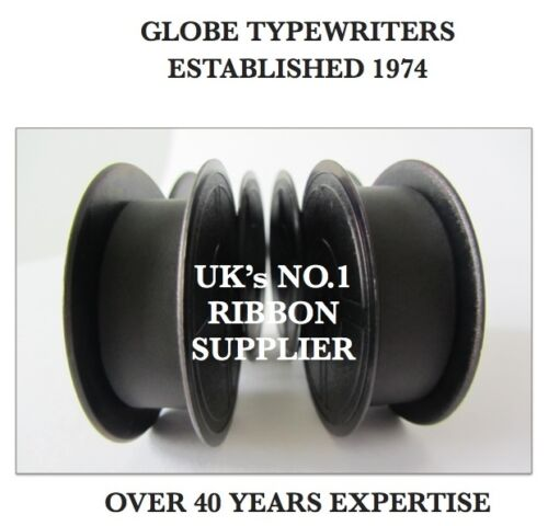 2 x 'OLYMPIA SM4 DELUXE' BLACK TOP QUALITY 10 METRE TYPEWRITER RIBBONS