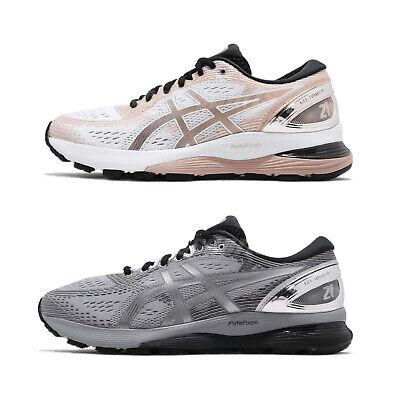Asics Gel Nimbus 21 Platinum Mens Womens Running Shoes Sneakers Pick 1 | eBay