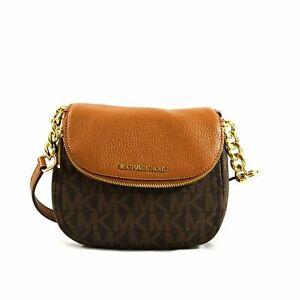 64767ff84a58 Michael Kors Signature Bedford Flap Crossbody Bag in Brown/acorn 35t7gbfc3b