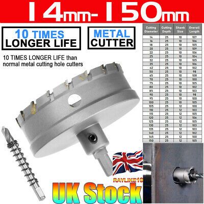 14-25MM TCT Carbide Hole Saw Metal Cutter Sets  Stainless Steel  HSS Metal Wood
