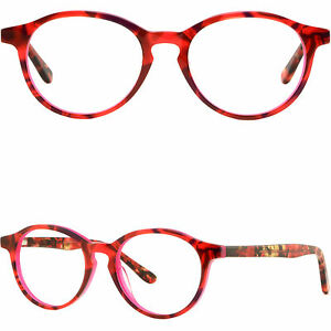 5a58fdf58d Image is loading Womens-Acetate-Frame-Round-Prescription-Glasses -Keyhole-Bridge-