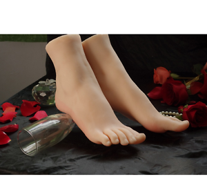 Xz32 full silicone life size fake feet model foot 1pair 1lot