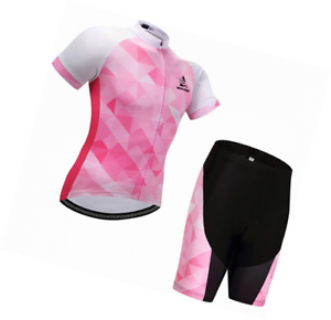 Gwell Womens Mens Radtrikot Breathable Bicycle Clothing Set Jersey Short Sleeve