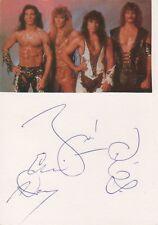 Manowar Autogramme signed 10x15 cm Karteikarte mit Magazinbild
