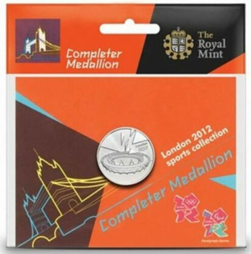 London 2012 Olympic 50p COMPLETER MEDALLION coin brand new sealed perfect