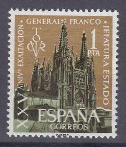 ESPANA-1961-NUEVO-SIN-FIJASELLOS-MNH-SPAIN-EDIFIL-1373-FRANCO-CATEDRAL-BURGOS