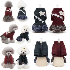 Pet-Small-Puppy-Dog-Dress-Clothes-Princess-Tutu-Lace-Skirt-Cat-Fleece-Apparel