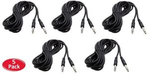 6Ft 1//4 6.3mm Stereo TRS Male Guitar Amplifier Speaker PA Instrument Cable 6 Ft