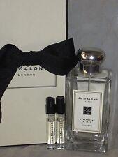 NIB Jo Malone cologne 3.4oz/100ml BLACKBERRY & BAY Cologne Spray + 2 sample vial