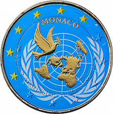 Monaco 2 Euro 2013 bfr. 20 Jahre UNO - Mitgliedschaft in Farbe