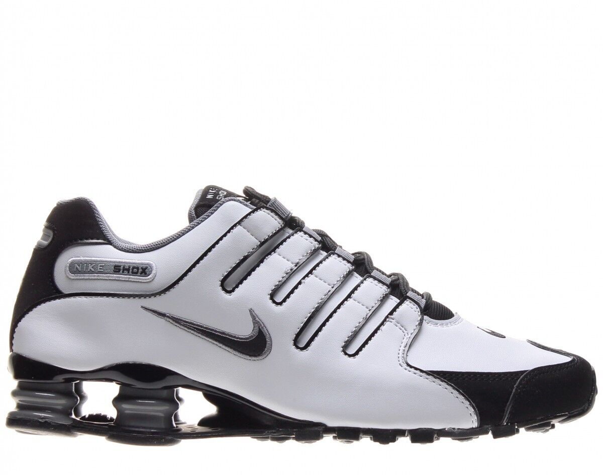 Nike shox nz scarpa Uomo dimensioni 378341-101 bianco nero fico gray