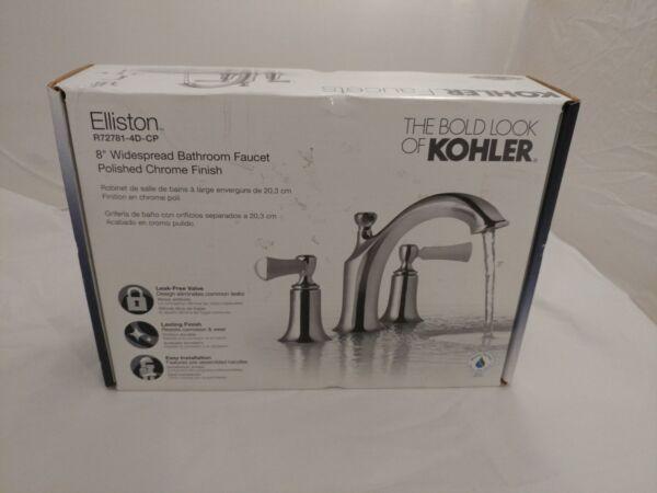 "Kohler Elmbrook 8 In Widespread 2 Handle Bathroom Faucet: Kohler Elliston 8"" Widespread Bathroom Faucet Polished"