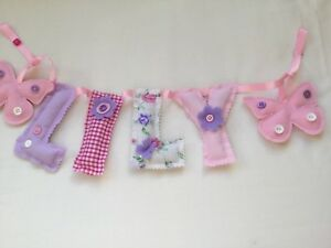 Image Is Loading Personalised Name Wall Door Banner Bunting Baby Child