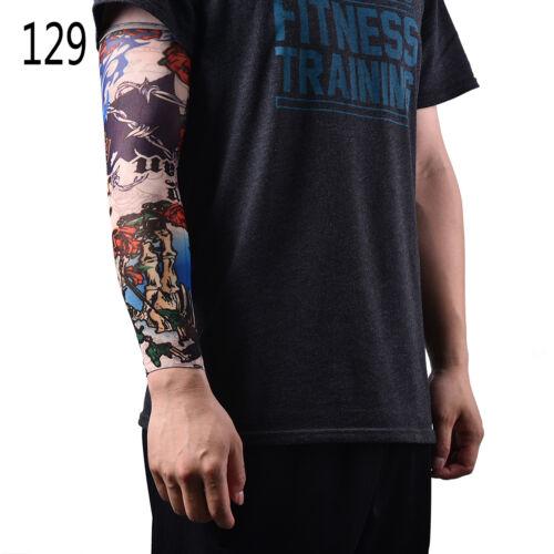 Nylon gefälschte temporäre Tattoo Ärmel Arm Strümpfe Tattoo für Männer Frauen ^