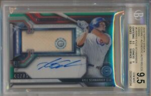 2016-Topps-Strata-Kyle-Schwarber-Clearly-Authentic-Auto-Relics-Green-44-75-BGS