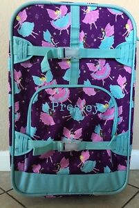 Presley Mono Pottery Barn Kids Plum Purple Glitter Fairy
