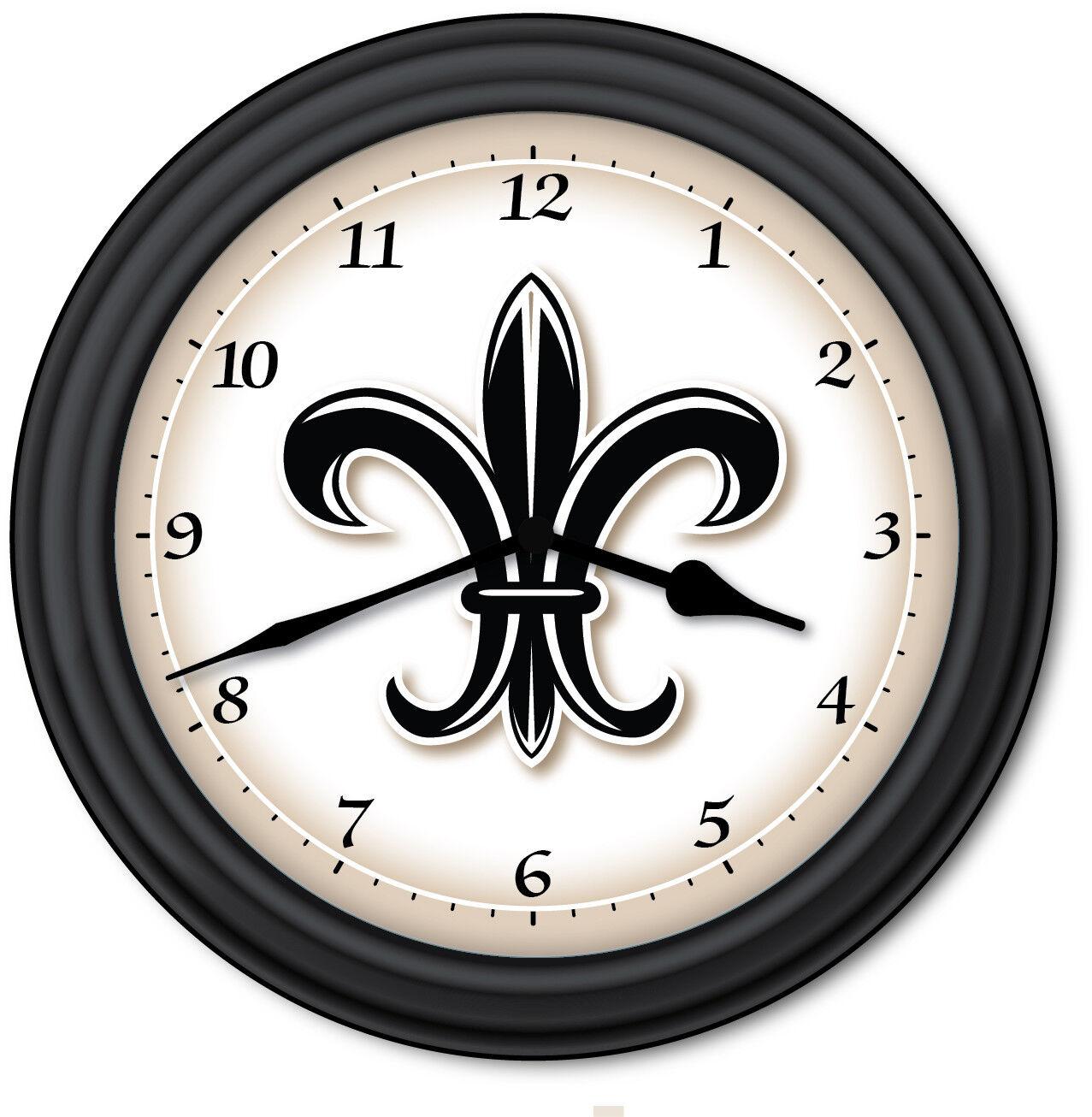 Fleur De Lis Pendulum Wall Clock Mini Black Ballard French Country Designs 0 For Sale Online Ebay