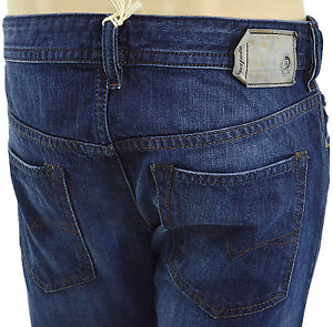 $228 Diesel jeans bleu délavé Buster 0838B Hommes Denim taille 32 nouvelle collection