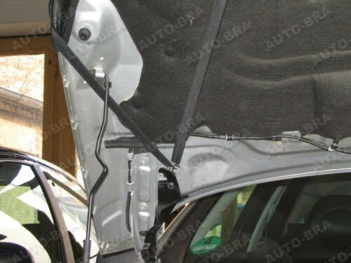 Carbon óptica bra para peugeot 407 desprendimiento protección Haubenbra tuning Front máscara