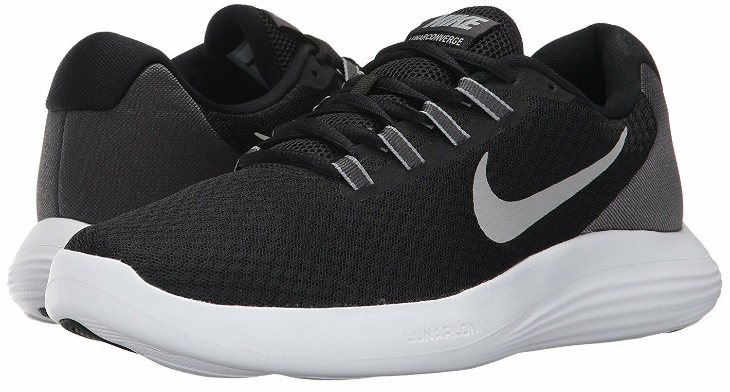 Men's Nike Lunar Converge Running Shoes, 852462 001 Mult Sizes Black/Silver/Ant