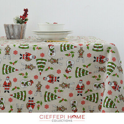 Cieffepi Home Collections TORONTO Tovaglia Natale Natalizia varie misure