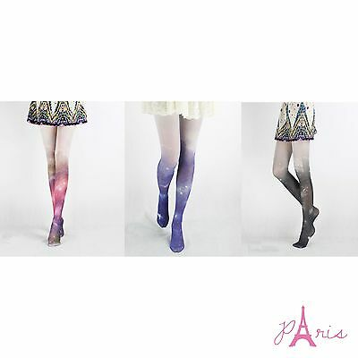 New Arrival LavoLave High Quality Sexy Stretchy Galaxy Pattern Spandex Stocking