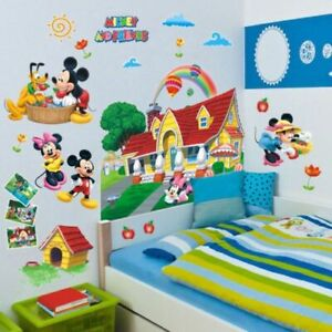Details about 3D Mickey Minnie Mouse Wall Stickers for Kids Bedroom Decor  Decal Home Decor