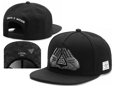 Men Women CAYLER SONS Snapback Adjustable Baseball Cap Hip hop street Hat Black