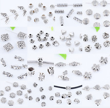 Tibet Silver Metal Ingot Loose Spacer Beads DIY Jewelry Findings 5X9mm XZ194