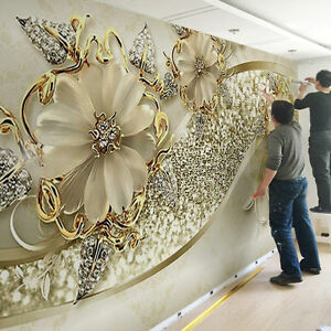 Details About 3d Sitting Room Bedroom Tv Background Embossed Flowers Jewelry Wallpaper 828